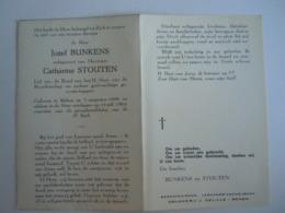 Doodsprentje Jozef Bunkens Rekem 1899 1964 Echtg Catharina Stouten - Devotion Images