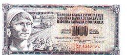 Billete Yugoslavia. 1000 Dinares 1981. Plancha. Ref. 6-604 - Yugoslavia