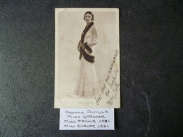 Jeanne JUILLA   Miss FRANCE 1931 / Miss Europe 1931     Véritable Autographe - Autographes