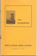 Tijdschrift Geschiedenis, Volkskunde Ons Meetjesland - Artikels Maldegem, Sleidinge, Hansbeke, Eeklo - Jaargang 1979 - Geschiedenis