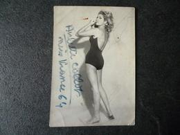 Arlette COLLOT   Miss FRANCE 1964     Véritable Autographe - Autographes