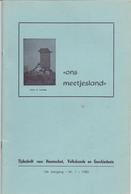 Tijdschrift Geschiedenis, Volkskunde Ons Meetjesland - Artikels Waarschoot, Sleidinge, Oedelem, Eeklo - Jaargang 1980 - Geschiedenis