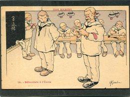 CPA - Illustration Gervèse - NOS MARINS - Bâbordais à L'Ecole - Guerra