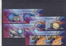 Espace - Voyager 2 - Burundi - COB 2214 / 7 ** - Paire NON Dentelé - Saturne - Jupiter - Uranus - Neptune - Valeur 72 € - Spazio