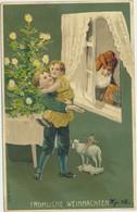 79-346 Estonia Russia Germany Christmas Couple Postal History Tallinn Reval Revel Postmark Embossed Santa Claus - Estland