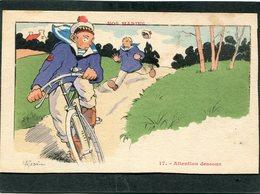CPA - Illustration Gervèse - NOS MARINS - Attention Dessous - Guerra