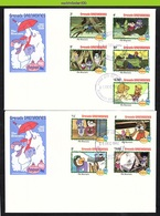 Nfe1771b WALT DISNEY DE REDDERTJES VOGEL KAT LIBEL CAT BIRD CROCODIL THE RESCUERS CHRISTMAS GRENADA GRENADINES 1982 FDCs - Disney