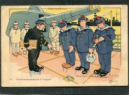 CPA - Illustration Gervèse - NOS MARINS - Permissionnaires à L'appel - Guerra