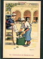 CPA - Illustration Gervèse - NOS MARINS - L'Ordonnance Ou Chacun Son Tour - Guerra