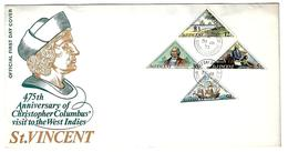 Cover FDC - St. Vincent - Kingstown - 1973 - 475th Anniversary Of Christopher Columbus' Visit To The West Indies - St.Vincent (...-1979)