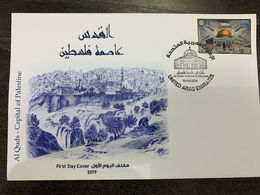 UAE 2019 United Arab Emirates Jerusalem The Capital Of Palestine Stamp FDC - Emirati Arabi Uniti