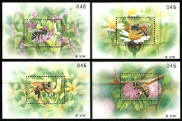 2000 Thailand Stamp Bees Insects Nature Set Of 4 Mnh Miniature Sheet. - Abeilles