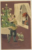 79-350 Estonia Russia Christmas Tree Children  Postal History Tallinn Postmark Embossed Couples Santa Claus - Estland