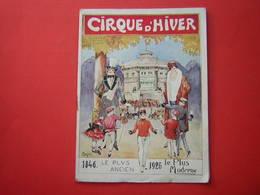 LIVRET / PROGRAMME CIRQUE D'HIVER ILLUSTRATION SIGNEE MARGERIE  LE PLUS ANCIEN 1846 LE PLUS MODERNE 1926 - Programmes