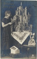 79-352 Estonia Christmas Tree Lady Postal History Tartu Postmark - Estonia