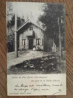 """CPA, COURMAYEUR--Châlet De Plan Gorret,""""un Salut De La Vallée D'Aoste"""", éd Broggi, écrite En 1904, Timbre - Italy"""