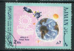 AJMAN- Timbre Oblitéré (Apollo 11) - Espacio