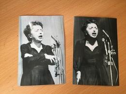 Two Original Photos Of Edith Piaf - Célébrités