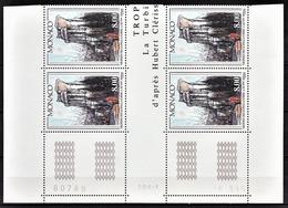 MONACO 1995 - BLOC DE 4 TP / N° 1992 - NEUFS** COIN DE FEUILLE / DATE - Monaco