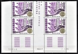 MONACO 1995 - BLOC DE 4 TP / N° 1993 - NEUFS** COIN DE FEUILLE / DATE - Mónaco