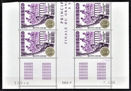 MONACO 1995 - BLOC DE 4 TP / N° 1993 - NEUFS** COIN DE FEUILLE / DATE - Monaco