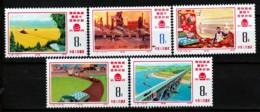 LOT  5 TIMBRES DE CHINE- NEUF**- SERIE COMPLETE DU N°2006 A 2010 DE 1976- COTE 75 E. - 1949 - ... Repubblica Popolare