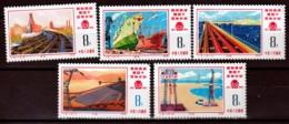 LOT  5 TIMBRES DE CHINE- NEUF**- SERIE COMPLETE N°2011 A 2015 DE 1976- COTE 75 E. - 1949 - ... Repubblica Popolare