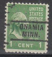 USA Precancel Vorausentwertung Preo, Locals Minnesota, Onamia 729 - Vereinigte Staaten