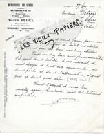 91 - Essonne - BRUNOY - Facture BESEL - Représentant De Menuiserie En Séries - 1930 - REF 125C - 1900 – 1949