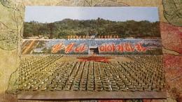 "North Korea, Propaganda. STADE / STADIUM / STADIO : Pyongyang ""Moranbong"" STADION. The Field  OLD PC 1950s Rare Edition - Korea (Noord)"