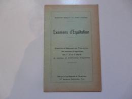 QUESTIONNAIRE D'EQUITATION ET D'HIPPOLOGIE - Equitation