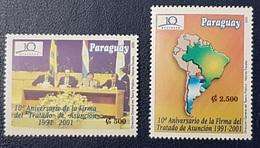 PARAGUAY 2001 The 10th Anniversary Of Asuncion Treaty MERCOSUR - FULL SET - MNH - Paraguay