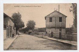 - CPA DOZULÉ (14) - L'Usine Electrique Et La Route Neuve (avec Personnages) - Edition C. Lepley - - Francia