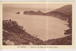 CPA-29-Finistère- MORGAT- Grève De L'Ile Vierge Vue Du Porz An Dour- - Morgat