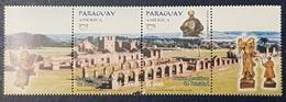 PARAGUAY 2001 America UNESCO Cultural Heritage RUINES UPAEP TRINIDAD - STRIP MNH - Paraguay