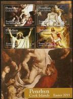 Penhryn 2015 Yvertn° Bloc 106 ***  MNH Cote 15 €  Easter Pasen Pâques Rubens Manet E.a. - Penrhyn