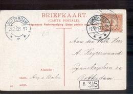 Bunschoten Langebalk Rotterdam - 1913 - Marcofilia