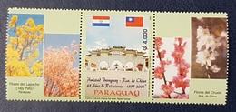 PARAGUAY 2002 45th Anniversary Diplomatic Relations China Taiwan STRIP MNH - Paraguay