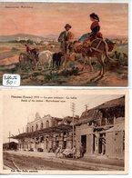 Somme : Péronne : Lot De 2 Cpa Dont Publicité Palais Du Vêtement De La Grande Place - Peronne