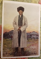 KAZAKHSTAN PEOPLE. NOGAI Man FROM KARANOGAI (Little Jüz)  - Old USSR PC 1938 Max Tilke - Kazachstan
