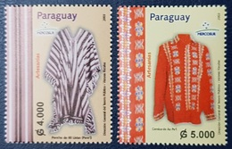 PARAGUAY 2003 MERCOSUR COSTUMES ARTS CRAFS HANDICRAFTS KRAFTS MNH - Paraguay