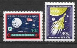 Mongolie  N° 157  Et 158    Espace    Neufs * *  TB  = MNH  VF   Soldé  Le Moins Cher Du Site ! ! !1 - Espacio