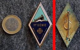 Insigne 1° RG Régiment Du Génie Quartier Lizé à STRASBOURG Email DRAGO Sans-numéro - Armée De Terre