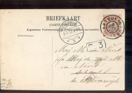Katwijk A D RIjn Grootrond - Beverwijk 3 Langebalk - 1910 - Postal History