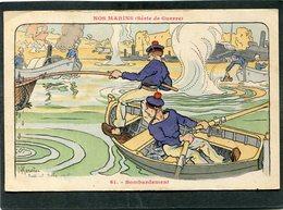 CPA - Illustration Gervèse - NOS MARINS (Série De Guerre) - Bombardement - Guerra
