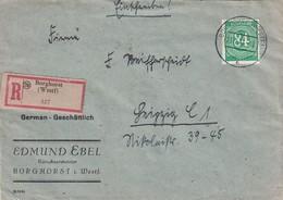 ALLEMAGNE 1947 ZONE AAS LETTRE RECOMMANDEE DE BORGHORST  AVEC CACHET ARRIVEE LEIPZIG - Zone AAS