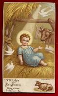 Image Pieuse Religieuse Holy Card A La Cour Du Roi Jésus Vous Aurez L'Office Du Boeuf ... Ed Bouasse Jeune - Images Religieuses