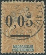 Madagascar 1889-1906 - N° 52 (YT) N° 52 (AM) Type I Oblitéré. - Oblitérés