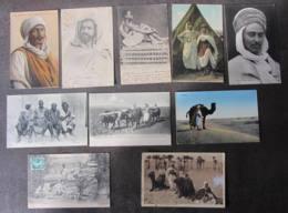 LOT De 10 CPA - Portraits Jeunes Hommes Arabes - Scènes Et Types - Lire Descriptif - 1 Scan - Unclassified