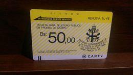 VENEZUELA - TAMURA - VISIT OF POPE JOHN PAUL II 1985 - MINT - CONDITION AS IN PIC - Venezuela
